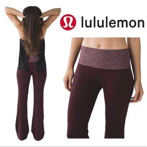 LULULEMON Groove Pant III Heathered Bordeaux Drama